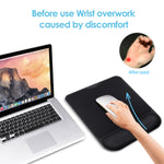 GIM Wrist Rest Mouse Pad Ergonomic Mousepad with Memory Foam Wrist Support, Mouse Pad Mat Black for Office Computer Laptop