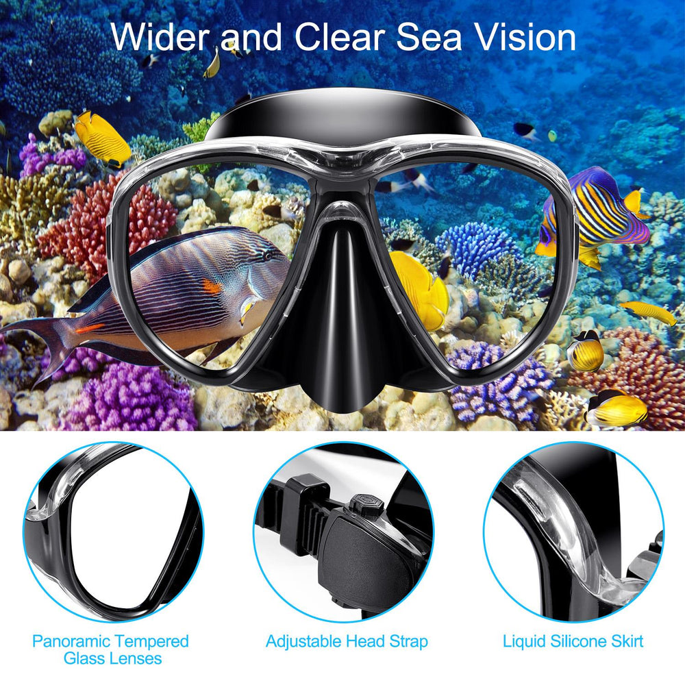 Pikewear Snorkel Mask Adult Profession Scuba Mask Adult Diving Mask Plating Impact Resistant Tempered Glass Anti-Fog Anti-Leak