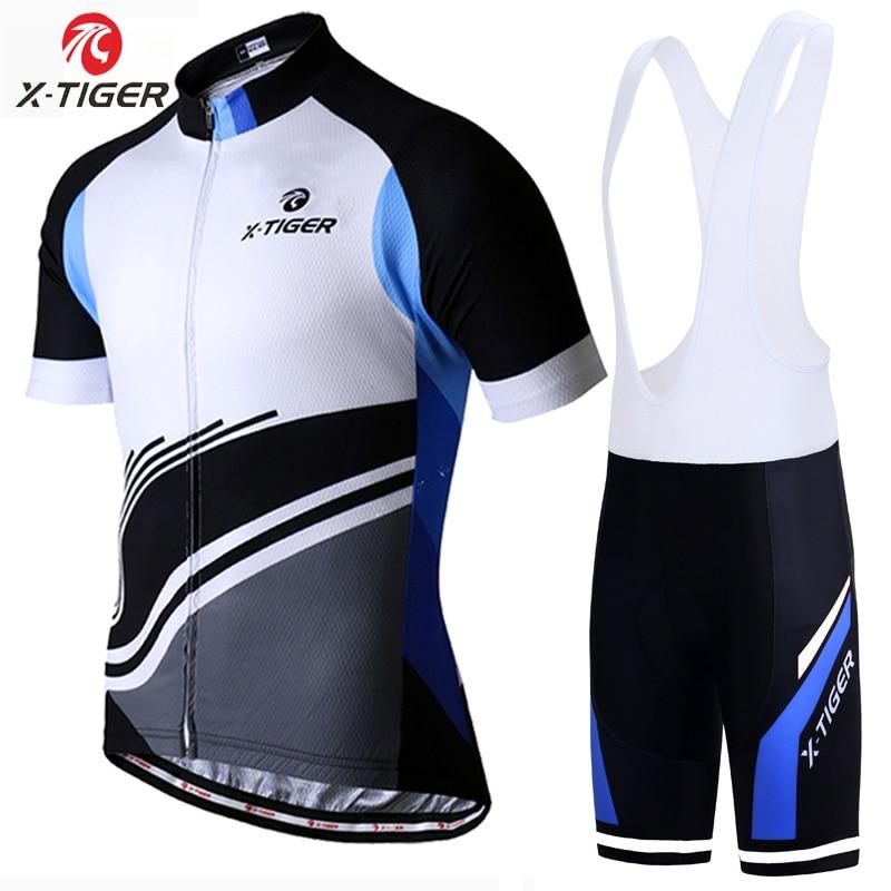 X-Tiger Pro Cycling Jersey Set Summer MTB Bicycle Clothing Maillot Ropa Ciclismo 100% Polyester Racing Bike Clothes Cycling Set