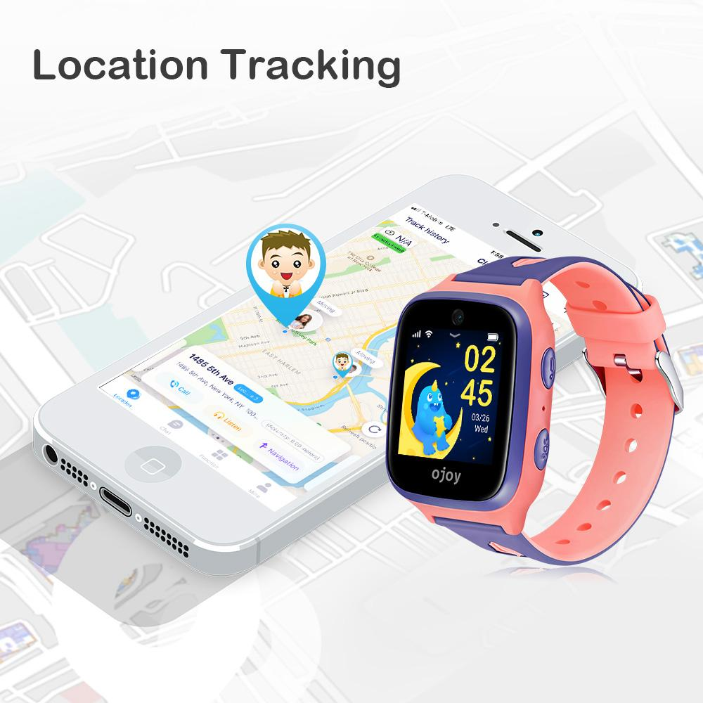OJOY A1 Kids Smart Watch Phone with 4G LTE, GPS Tracking and Messaging, IPX7 Waterproof with iOS and Android App