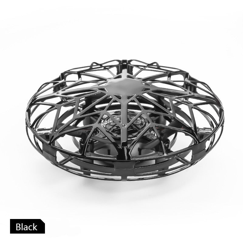 Anti-collision UFO Mini Drone Hand Flying Globe Quadcopter Hand Controlled Helicopter LED Induction Flying Ball Aircraft RC Toys
