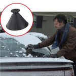 2pcs Pack Auto Car Magic Window Windshield Car Ice Scraper Shaped Funnel Snow Remover Deicer Cone Deicing Tool Scraping ONE Round