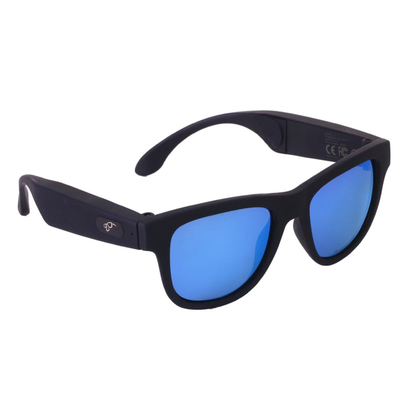 BGreen Bone Conduction Bluetooth Smart Sport Sunglasses Wireless Stereo Music Sunglasses Sports Headset Headphone