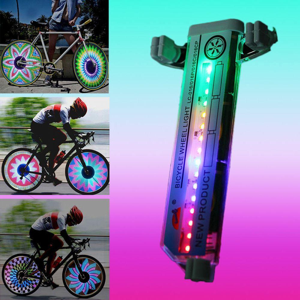 Bicycle Motorcycle Bike Tyre Tire Wheel Lights 32 LED Flash Spoke Light Lamp Outdoor Cycling Lights For 24 Inches Wheel Lamp