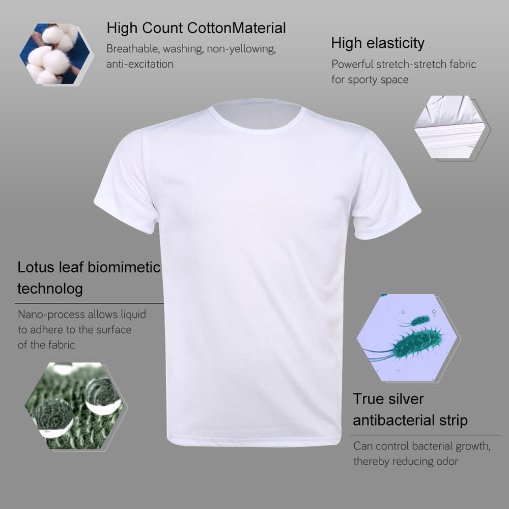 Breathable Anti-Dirty Men T-shirt Creative Hydrophobic Waterproof Anti-pollution Quick Dry T-Shirts Top Short-sleeved T-shirts