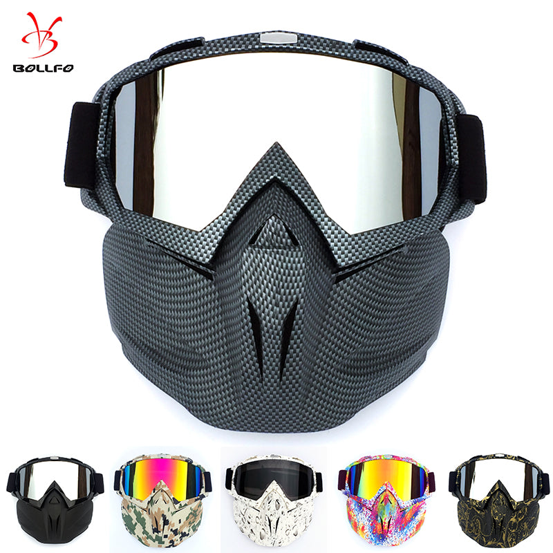 Cycling Helmet Goggle Mask Carbon Style Tough Guy Men Design Breathable Racing ATV Riding Eye Wear  windproof Eyepiece Goggles
