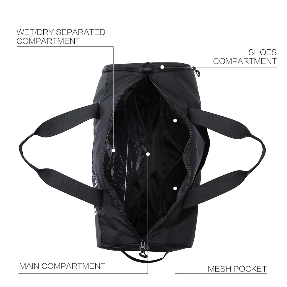 Dayup New Men Sport Gym Bag Women Fitness Waterproof Outdoor Separate Space For Shoes pouch rucksack Hide Backpack sac Yoga bag