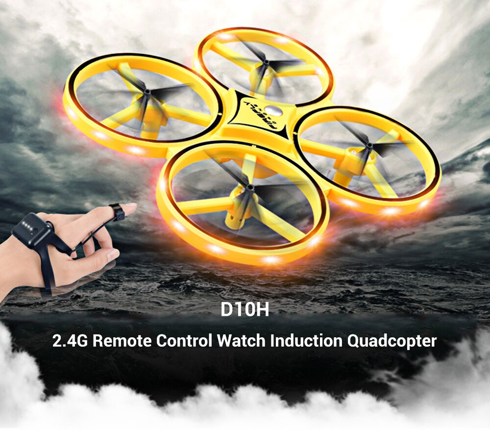 Gravity Sensing 2.4G Remote Control RC Helicopter Watch Induction Quadcopter Infrared Obstacle Avoidance / Throwing Fly Sensing