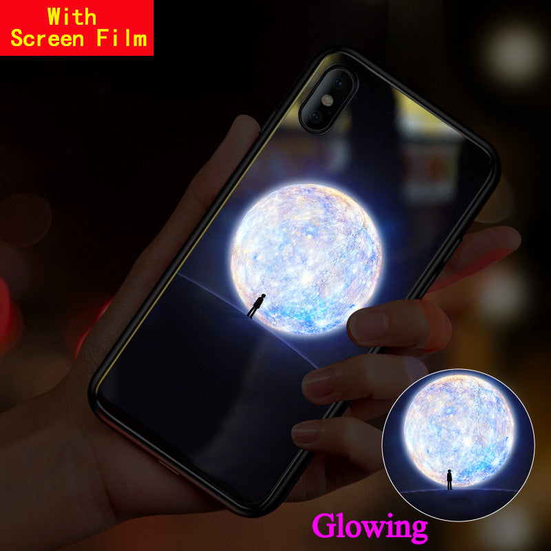 Have Led 3D LOGO Luminous Phone Case For iPhone XS MAX XR X 7 Plus Glass Cover Glowing Flash For Apple iPhone XS Max 6S 7+ Shell