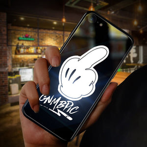Have Led Glowing LOGO Phone Case For Apple iPhone XS MAX XR X 6 6s 7