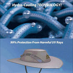 Hot Selling Arctic Cap Cooling Ice Cap Sunscreen Hydro Cooling Bucket Hat Arctic Hat with UV Protection Keeps you Cool