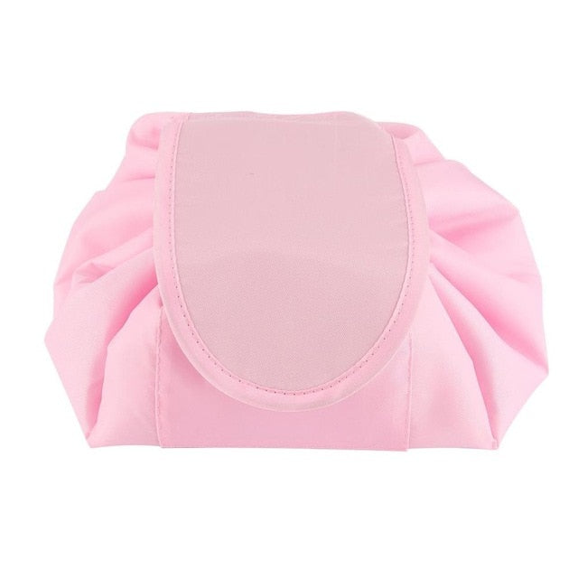 Korean Fashion Waterproof Large Capacity Quick Drawstring Makeup Jewelry Storage Bag Women Travel Cosmetic Bag Toiletry Tool Kit