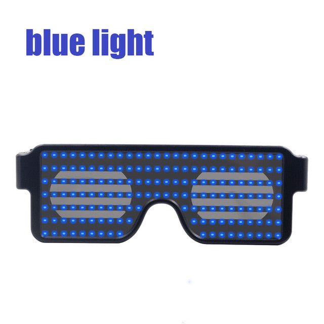 New 11 Modes Quick Flash Led Party Glasses USB charge Luminous Glasses Christmas Concert light Toys