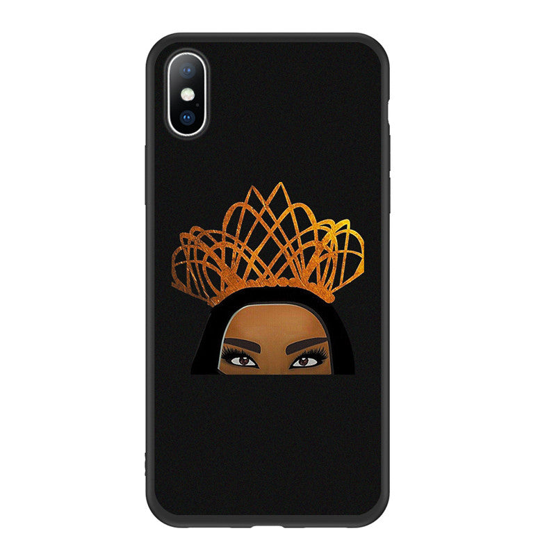 Ottwn Arabic Hijab Girl Queen Crown Phone Case For iPhone 11 Pro Max XR Xs Max Soft TPU Cover For iPhone 6 6s 7 8 Plus 5 5s SE