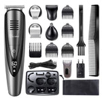 Professional waterproof hair trimmer beard trimer body face hair clipper electric hair cutting machine haircut for men grooming