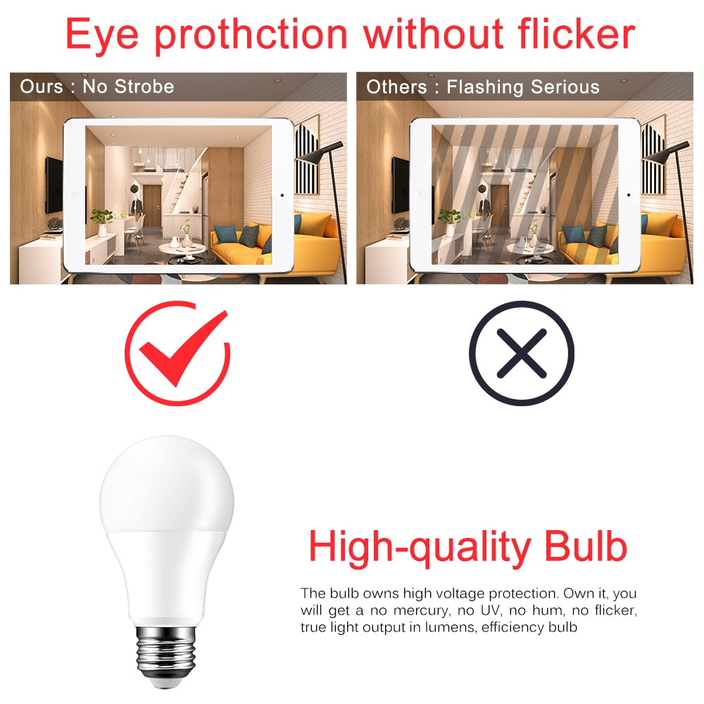 Multi-Pack ACEMATE Smart WiFi Light Led Bulb E27/E26/B22 Dimmable Lamp 7W RGB, Cool White and Warm White App Voice Control Work With Alexa and Google Assistant