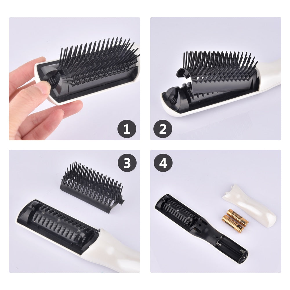[USA Stock] Electric Laser Hair Growth Massage Comb Anti Bald Hair Loss Follicles Activation Infrared Head Massager Drop Ship