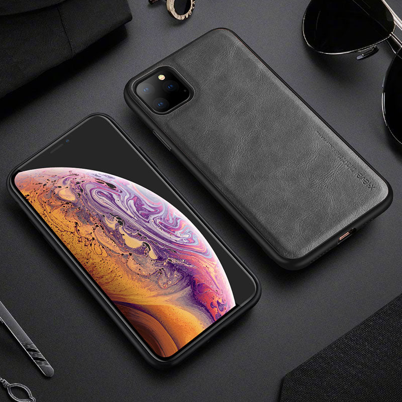Leather Case For iPhone 11 Pro Max Ultra Light Soft Silicone edge Back Phone Cover For iPhone 11 Pro Case iPhone11 Coque