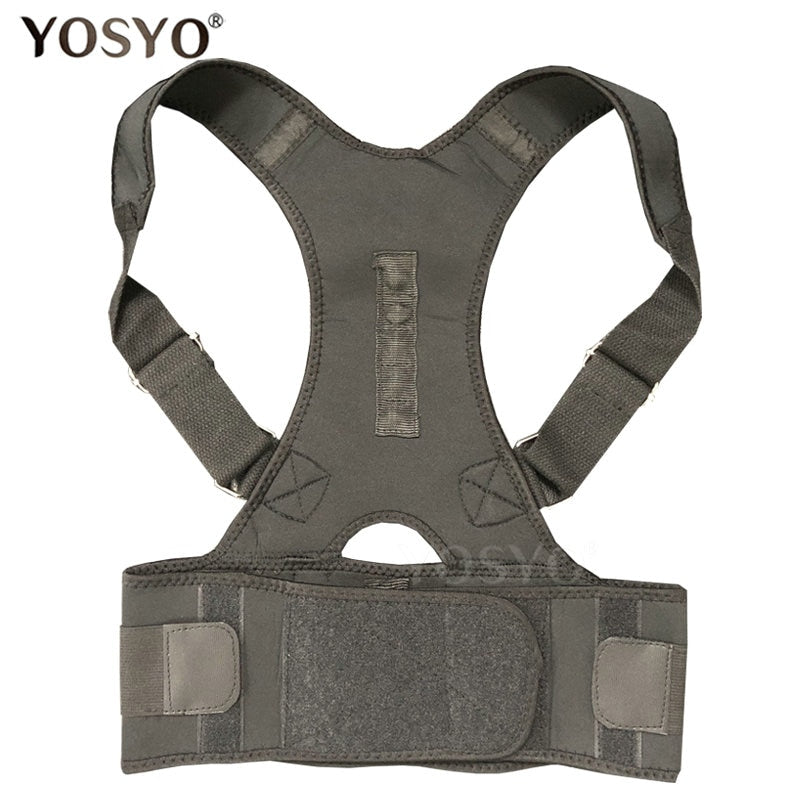 Posture Corrector Magnetic Therapy Posture Corrector Brace Adjustable Shoulder Back Brace Support Belt 2019 Trending