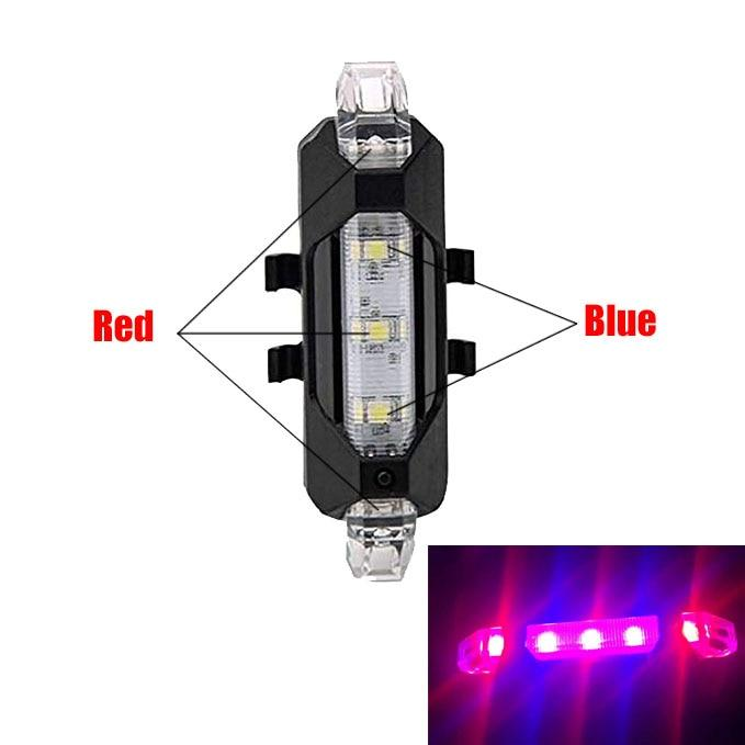 Bike Bicycle light Rechargeable LED Taillight USB Rear Tail Safety Warning Cycling Light Portable Flash Light Super Bright
