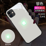 [New iPhone 12 series cases] LED Light Illuminated Apple Logo 3D Designer Case Back Cover with Free 10D Anti  Shock Screen Protector For iPhone  12/Pro/12 Pro Max/X/XS/XR/XS MAX 11/8 11/8Plus