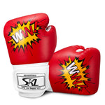Kids Boxing Gloves 4oz Training Gloves for Children Cartoon Sparring Boxing Gloves Training Mitts Junior Punch PU Leather Age 5-12 Years