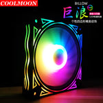 COOLMOON Case Fans 120mm 3 Pack, ICETEK 3In1 Kit LED PC Computer Case Fan RGB, 366 Modes with Controller and Remote, Reinforced Quiet Fan Blade Design, Adjustable Colorful Cooling Cooler (3 Pack)