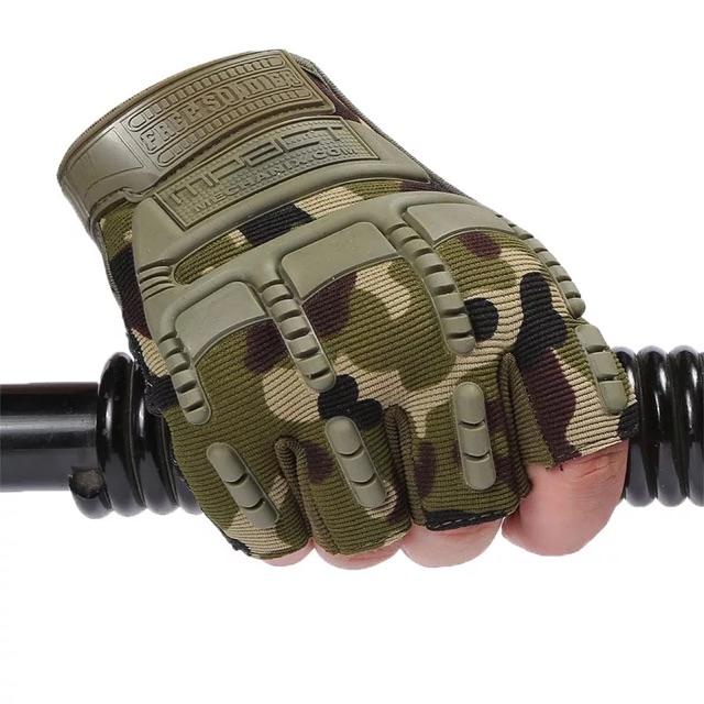 Army Military Tactical Combat Bicycle Half Finger Gloves