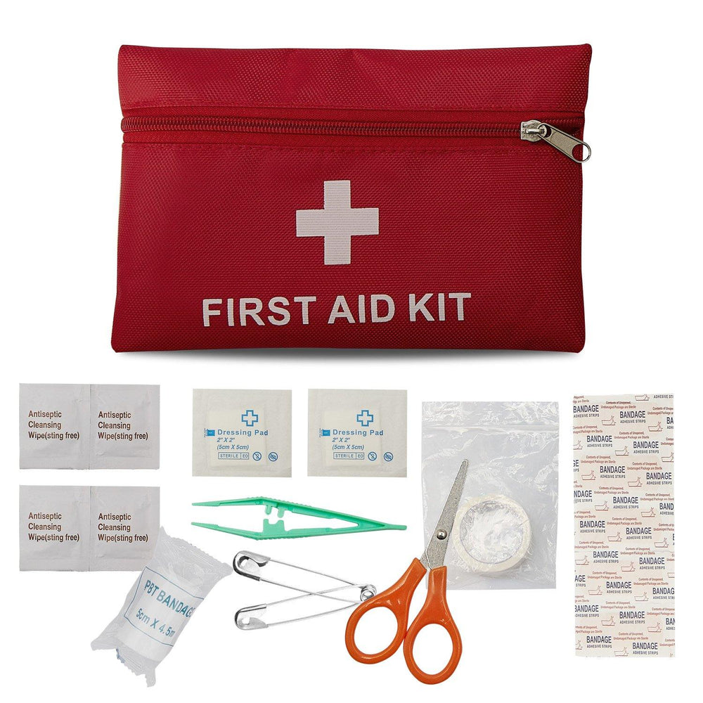 First aid kit survival 18 pieces medical suit travel emergency suit suitable for hiking / travel / car / home / DIY outdoor activities