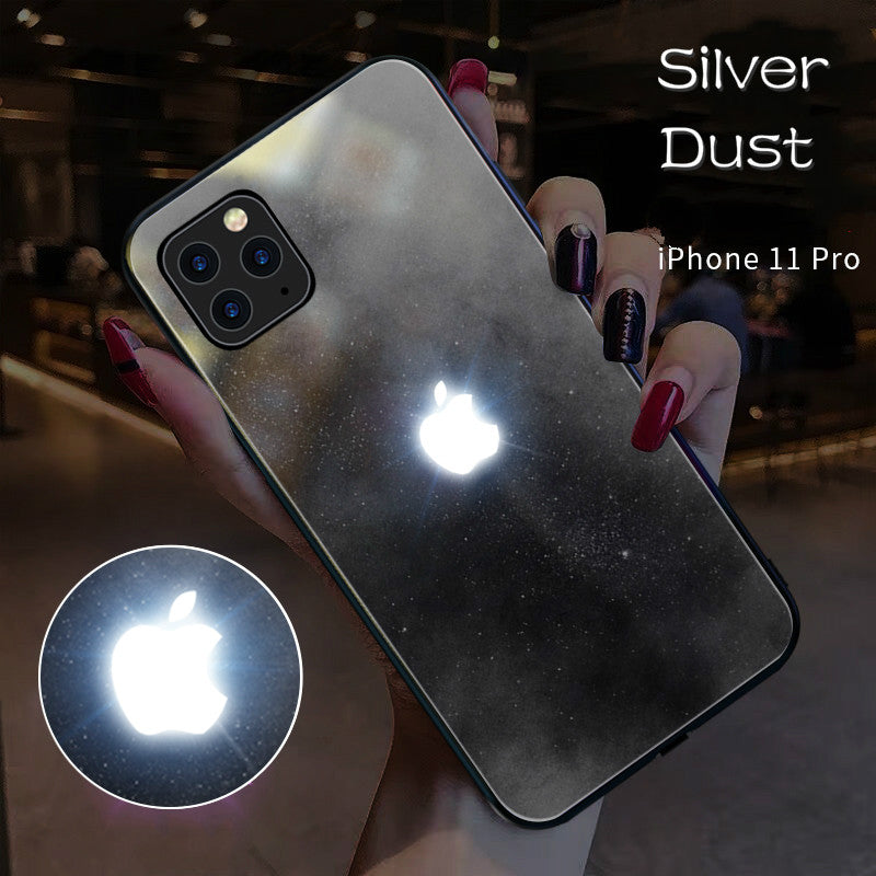 [New iPhone 11 series cases] LED Light Illuminated Apple Logo 3D Designer Case Back Cover with Free 10D Anti  Shock Screen Protector For iPhone  11/Pro/11 Pro Max/X/XS/XR/XS MAX 7/8 7/8Plus