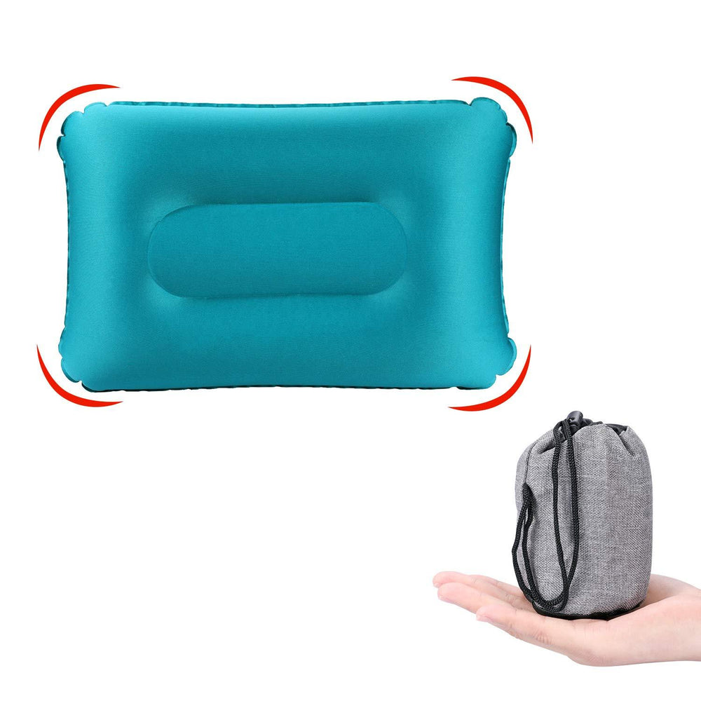 Inflatable Camping Pillow Compressed Ultra-light Ergonomic Portable Air Pillow for Hiking Travel Beach Use