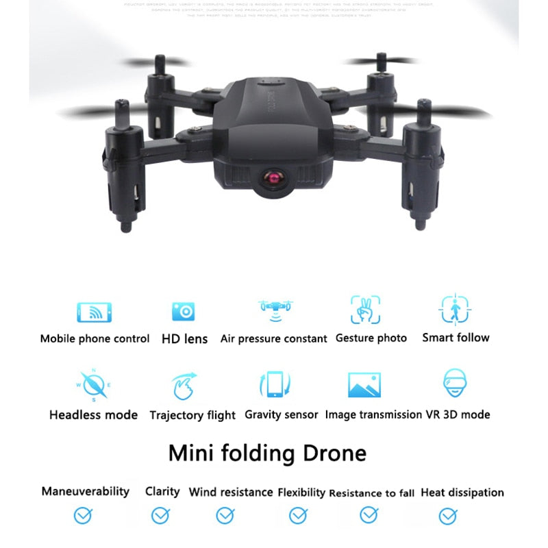 Foldable Mini Drone With RC Quadrocopter