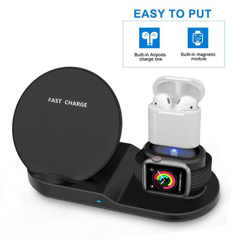 3-in-1 Wireless Fast Charger Dock