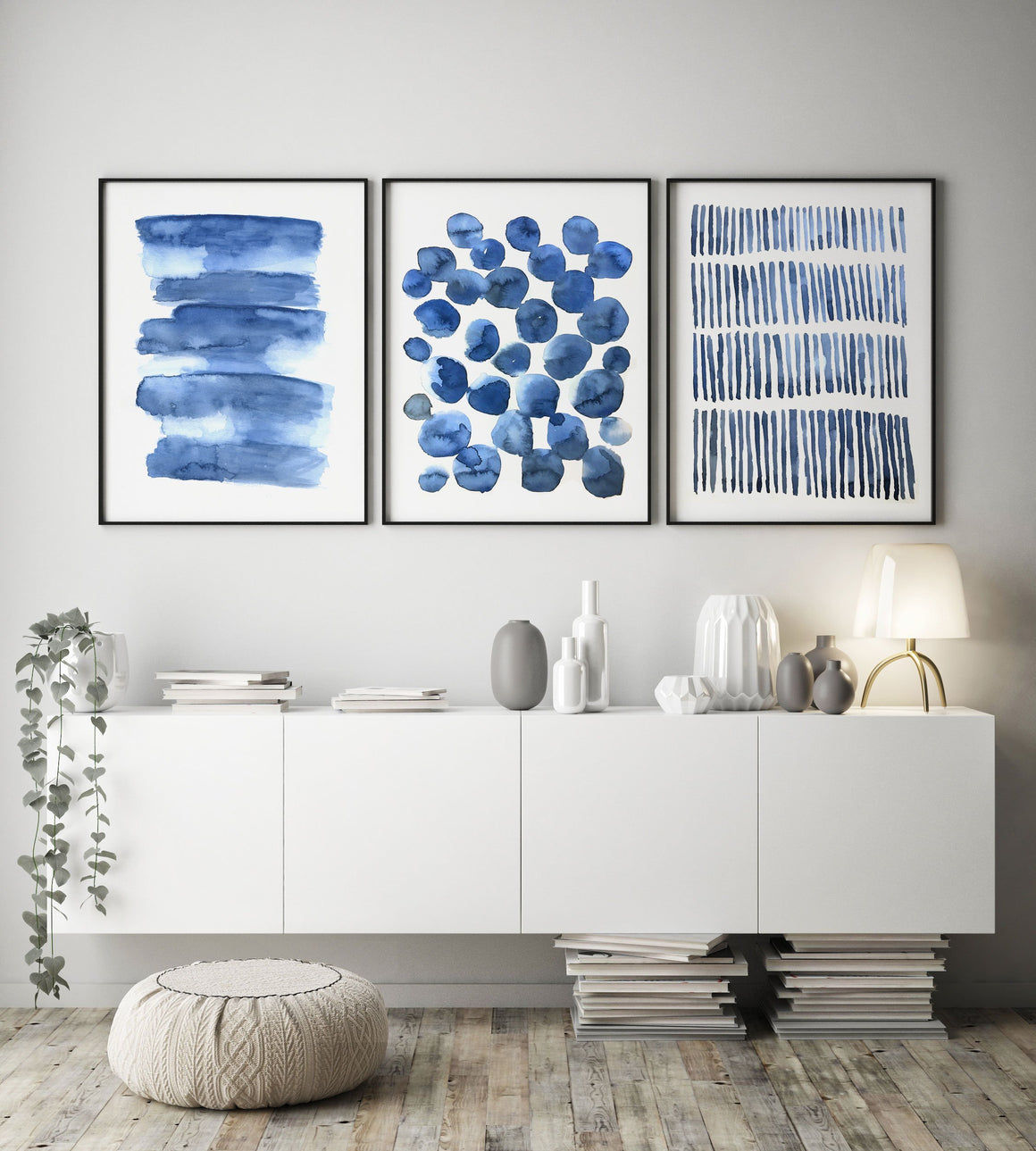 Blue Scandinavian Art abstract