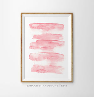 Blush Pink Abstract Lines