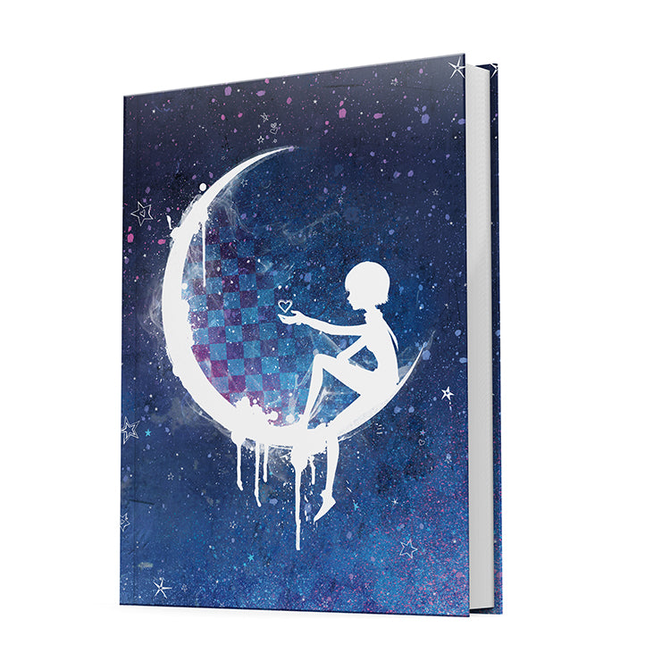Hardcover Anna Blue notebook featuring the Anna Blue Night cover.