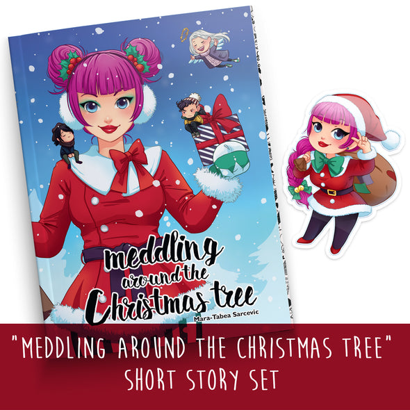 "Softcover Book Short Story ""Meddling around the Christmas tree"" with Anna Blue and her friends. A diverting little story about X-mas presents, winterly December weather, sweets and tested friendship."