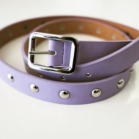 iconic purple Zoe belt as seen in the Silent Scream music video