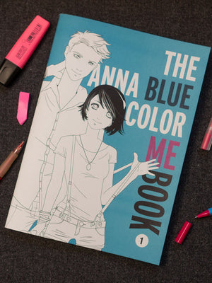 A4 sized color me book of Anna Blue, Damien Dawn, Henry, Lyds and Zoe from Silent Scream