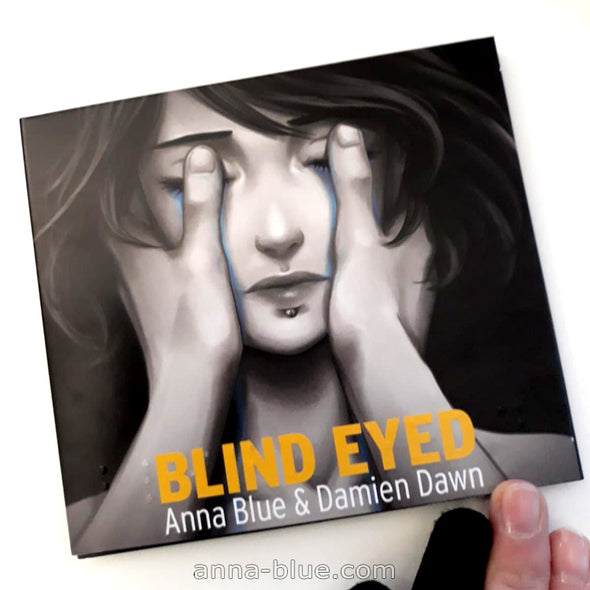 Blind Eyed EP cover featuring Anna Blue with Braille embossing.