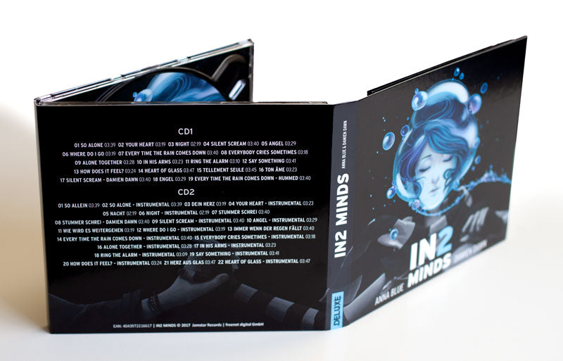 Anna Blue Damien Dawn IN2 Minds physical Deluxe Album with 2 CDs and all songs including Silent Scream and So Alone.