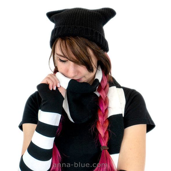 Beanie, Scarf & Arm Warmers SET
