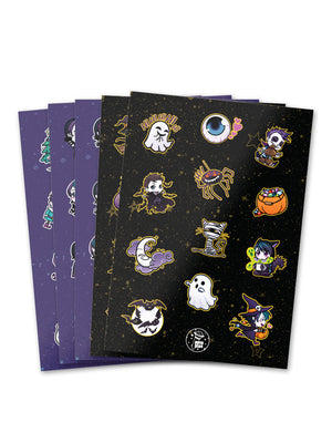 60 sticker set kiss cut vinyl anna blue music emoticons emojis kaomoji stickers halloween christmas