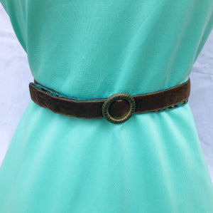 Hippy Chic Skinny Mini - Reversible Peacock Belt