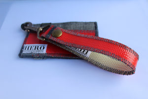 Pocket HERO Wallet & Clip Keychain Set - 'Fire vs. Ash'