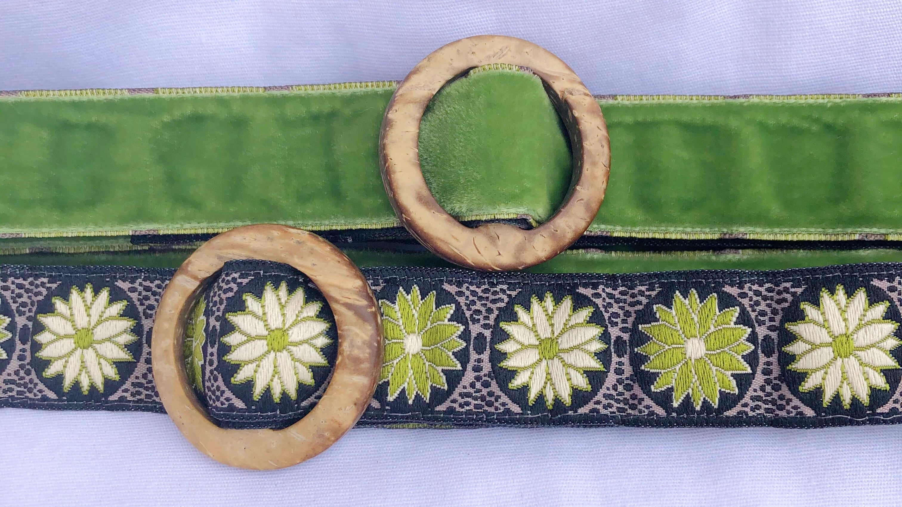 Hippy Chic Skinny Mini - Reversible Olive Grove Belt