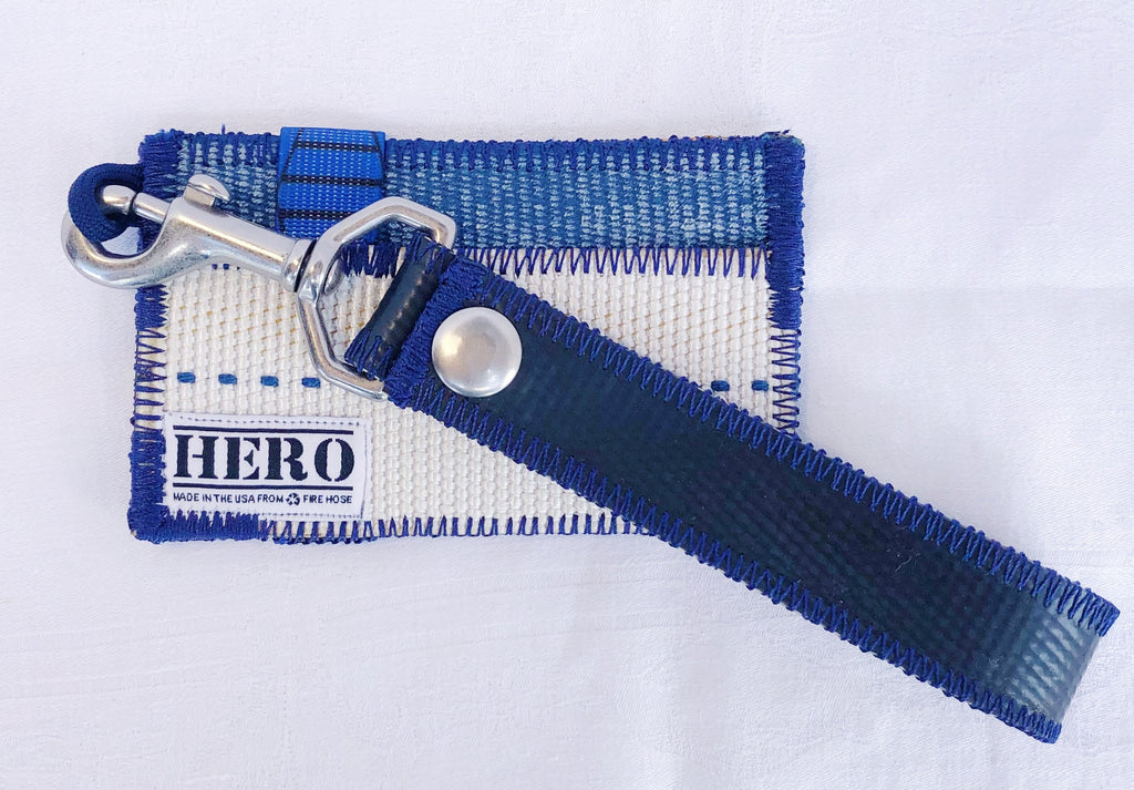 Pocket HERO Wallet & Keychain Set - 'Thin Blue Line'