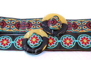 Hippy Chic Reversible Belt - Kaleidoscope