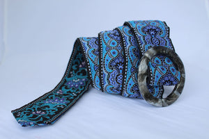Hippy Chic Reversible Belt - Purple Haze