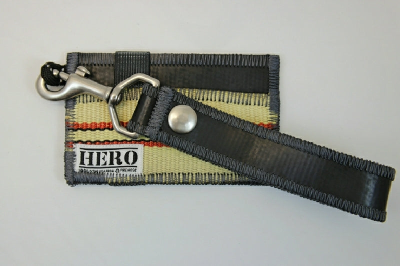 Pocket HERO Wallet & Clip Keychain Set - 'Courage Grey'